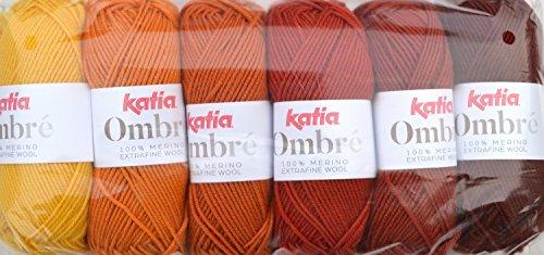Katia Ombré - Farbe: Naranjas (7) - 25 g / ca. 85 m Wolle
