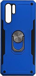 جراب خلفى قوى آيرون مان بحلقة معدنية ومسند لهواوي P30 برو - ازرق