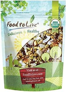 Organic Variety Trail Mix, 1 Pound — Raw and Non-GMO Snack Mix Contains Goji Berries, Coconut Chips, Mulberries, Cashews, Walnuts, Pumpkin Seeds. Vegan Superfood, Kosher, No Added Sugar, Bulk