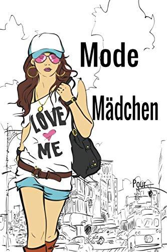 Mode Mädchen: mode für teenager, für Mädchen Malbuch, Mode Teenager, kindermode mädchen,  Mode Färbung, Kleid Färbung, Tasche Färbung, Frisur Färbung, Teenager-Mädchen, mädchen kleidung festlich.