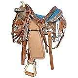 "Silver Horse Sella Western Georgia London/Azzurro 16"" = 40 cm..."
