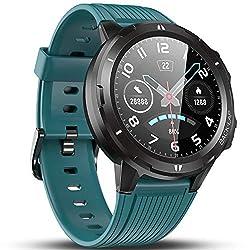 Vigorun Smartwatch Orologio Fitness Uomo Donna, Fitness Tracker con Cardiofrequenzimetro, Sleep Tracker, Contapassi, Autonomia di 14 Giorni, 5 ATM Impermeabile Orologio Sportivo per Android Blu