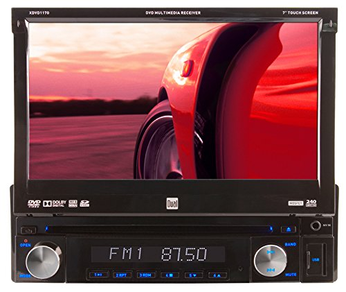 Dual XDVD1170 In-Dash 7-Inch Touchscreen DVD/MP3/WMA Car Stereo Receiver with Direct USB iPod Control and SD Card Reader