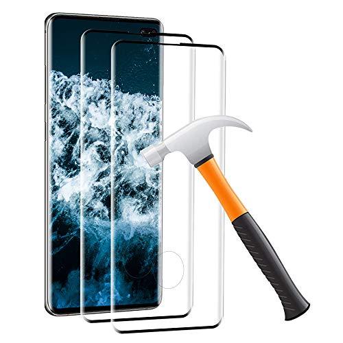 Carantee 2 Stück Panzerglas Schutzfolie für Samsung Galaxy S10 Plus, [HD Klar][Anti-Kratzen] [Anti-Fingerabdruck] [Ultradünn], Hüllefreundlich Displayschutzfolie Panzerglasfolie für Samsung S10 Plus