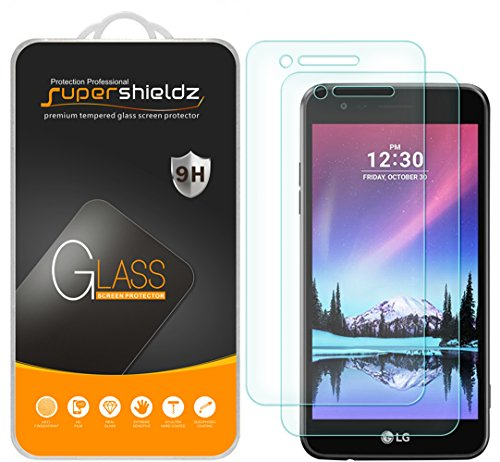 (2 Pack) Supershieldz for LG Fortune and LG (Rebel 2) LTE 4G Tempered Glass Screen Protector Anti Scratch, Bubble Free