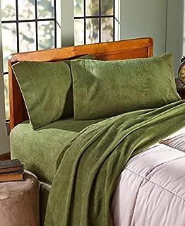 The Lakeside Collection King Fleece Sheet Set - Olive