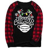 Pijamas Dos Piezas Familiares de Navidad, Conjuntos Navideños de Algodón para Mujeres Hombres Niño Bebé, Ropa para Dormir Otoño Invierno Sudadera Chándal Suéter de Navidad