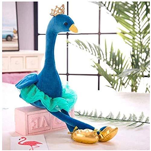 SSTOYS Kronenschwan Pfau Flamingo Puppe Kindergarten Kinder Plüschtiere 70cm Blauer Pfau