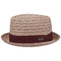 Avec bande en tissu Largeur du bord : 4.6 cm env.,Hauteur de tete : 10.3 cm env. Stillwater Toyo chapeau de paille Paille Un chef d´oeuvre. En paille de papier, ce chapeau de Stetson vous accompagnera les jours chauds de l´annee, tout en restant conf...