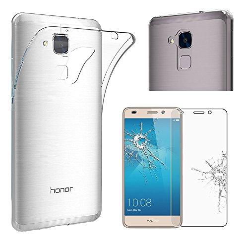 ebestStar - Huawei Honor 5C Hülle Handyhülle [Ultra Dünn], Premium Durchsichtige Klar TPU Schutzhülle, Soft Flex Silikon, Transparent + Panzerglas Schutzfolie [Honor 5C: 147.1 x 73.8 x 8.3mm, 5.2'']