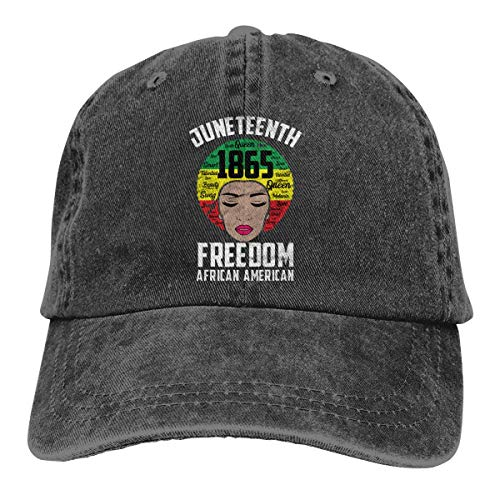 Truck Baseball Cap Sonnenhut Juneteenth African American Woman Freedom June 19th 1869 Unisex Classic Vintage Washed Denim Hat Adjustable Dad Baseball CapUnisex Classic Baseball Cap Dad Hats