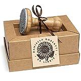 Ex libris Girasol Flor Sol Gigante Sello Personalizado, Madera Diámetro 40mm, Caja Regalo Especial