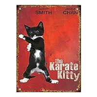 Karate Kitty Cat ティンサイン ポスター ン サイン プレート ブリキ看板 ホーム バーために