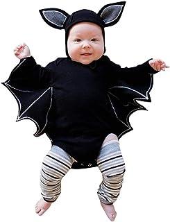 Ropa Bebé,?? Modaworld Bebés recién Nacidos niñas Traje de Halloween Mameluco Monos y Sombreros Gorras Disfraz de Bat Cosplay Chaqueta Conjuntos 0-24 Mes