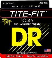 DR エレキギター弦 TITE-FIT ニッケルメッキ .010-.046 MT-10