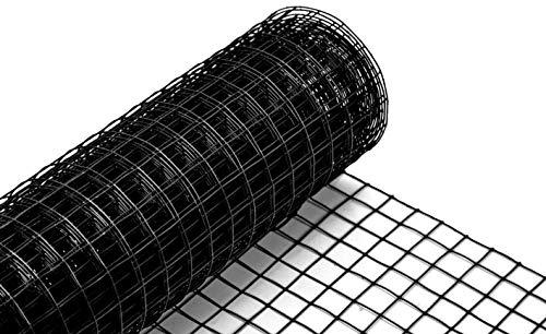 Volierendraht schwarz beschichtet 19x1000 mm 10 m Maschendrahtzaun