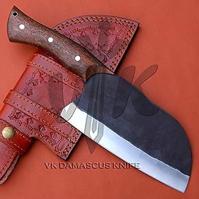 Handmade Carbon Steel butcher serbian Cleaver Chopper Kitchen Chef Knife Rosewood Handle DW5511