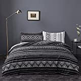Fityou Bedding Duvet Cover 3 Piece Set, 100% Washed Microfiber King Queen Twin Bed Duvet Cover, 1 Duvet Cover with 2 Pillow Shams, Comforter Cover with Zipper Closure & Corner Ties