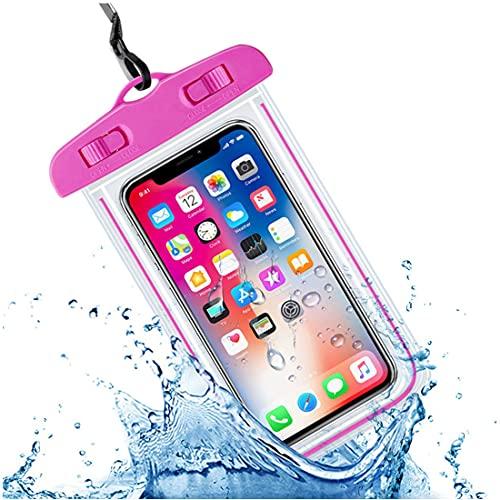 Funda impermeable para teléfono, IPX8, impermeable, bolsa seca subacuática, para natación, buceo, compatible con iPhone 11 Pro/XS Max/SE, Samsung Galaxy S20, Huawei P30, etc