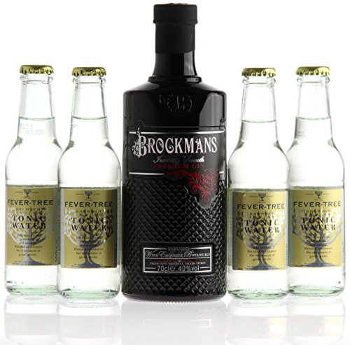 BROCKMANS Gin a 0,7l 40% Vol. & 4 x Fever Tree Indian Tonic inc. MEHRWEG Pfand