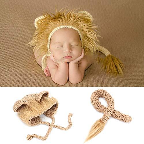 Baby Löwe Hut, Baby Fotoshooting kostüm Neugeborenes Foto Trieb Löwe Hut mit Endstück Sätzen