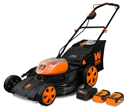WEN 40441 40V Max Lithium Ion 21-Inch Cordless 3-in-1 Lawn Mower