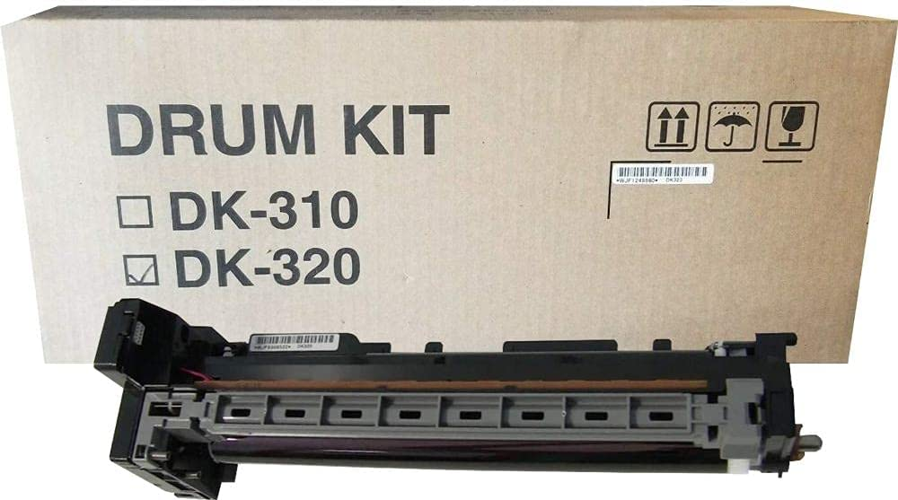 Kyocera 302J393033 Model DK-320 Black Drum Unit, Compatible with Kyocera FS-2020D, FS-3040MFP, FS-3140MFP, FS-3540MFP, FS-3640MFP, FS-3920DN, FS-4020DN Printers; Up to 300000 Pages Yield