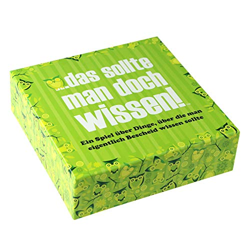 Monsterzeug Partyspiel Das sollte Man doch wissen, Lustiges Quiz mit über 400 Fragen, Kartenspiele für gesellige Runden, Wissensquiz