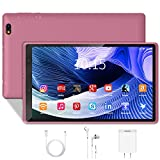Android 10.0 Tablet PC 3GB RAM 32GB Storage 128GB Expandable 1280X800 HD IPS Display Tablet, Quad-Core 1.6Ghz WiFi Reading Version (8 inch, Tablet Without Keyboard, Pink)