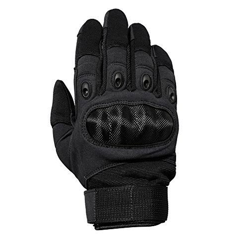 TACVASEN Taktische Handschuhe Winter Motorrad Handschuhe Herren Vollfinger Army Gloves Biking Ski Handschuhe (Schwarz, M) - 4
