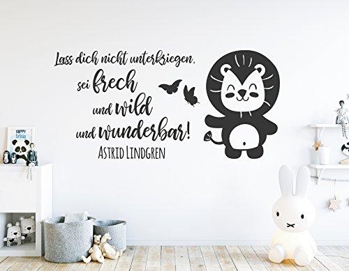 tjapalo® s-pkm396 Wandtattoo Kinderzimmer mit Wandspruch Sprüche