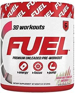 Fuel Pre Workout Powder (Sour Watermelon Wedges) All Natural Safe Energy Drink, Focus, Sugar Free, Creatine, Caffeine, for Men & Women, Keto, Nitric Oxide, Endurance, Pump, Ghost, Healthy, Best Taste