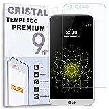 REY Protector de Pantalla Curvo para LG G5, Transparente, Cristal Vidrio Templado Premium, 3D / 4D / 5D