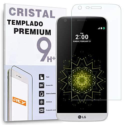REY Protector de Pantalla Curvo para LG G5, Transparente, Cristal Vidrio Templado...