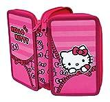 Hello Kitty–Astuccio portapenne–2Zip–Imbottito per l' inizio della scuola–con chiusura lampo, ideale anche per le asilo in asilo