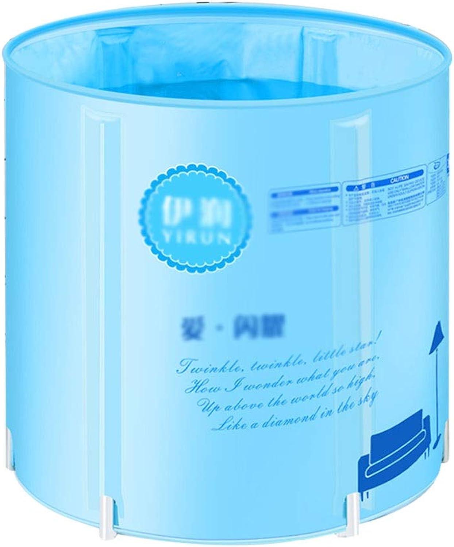Xing Hua home Badewannen Badewanne Badewanne Badewanne Fass Bad Isolierbad Kann Angehoben Und Gefaltet Badewanne Erwachsene Badfass (Farbe   Blau, Größe   70  70  70cm)