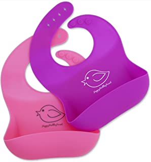 Happy Healthy Parent Silicone Baby Bibs Easily Wipe Clean! Comfortable Soft Waterproof..