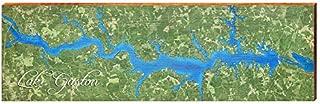 Lake Gaston Map Home Decor Art Print on Real Wood (9.5
