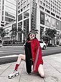 DENGLI Sudadera con Capucha Desgaste Costura Doble Cap Hombres y Las Mujeres la Pareja Sudaderas con Capucha for los Hombres Harajuku Calle Campana Calle Floja Jerseys para Hombres y