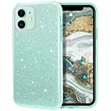 MILPROX iPhone 11 Case, Bling Sparkly Glitter Luxury Shiny Sparker Shell, Protective 3 Layer Hybrid Anti-Slick Slim Soft Cover for iPhone 11 6.1 inch (2019)-Green