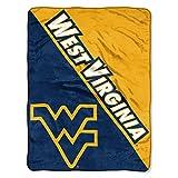 The Northwest Company WVU Mountaineers 'Halftone' Micro Raschel Throw Blanket, 46' x 60' , Blue