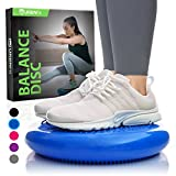 Balance Disc - Stability Wobble Cushion - Lumbar Support For Desk and Office Chair, Lower Back Pain Relief and Support - Kids Wiggle Seat For Classrooms - Home Gym Workout Equipment - Pump Included
