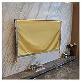 ZHhome Staubschutz PC Monitor Case Displayschutzfolie, Hochwertige Handgefertigte Abdeckung Schützt TV (Color : Yellow, Size : 40in)
