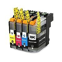 brother ブラザー 対応の互換インクカートリッジ LC211BK LC211C LC211M LC211Y 4色セット ICチップ付 残量表示機能付