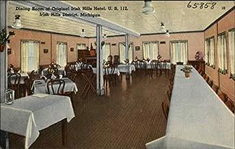 Original Irish Hills Hotel - Dining Room Irish Hills, Michigan Original Vintage Postcard