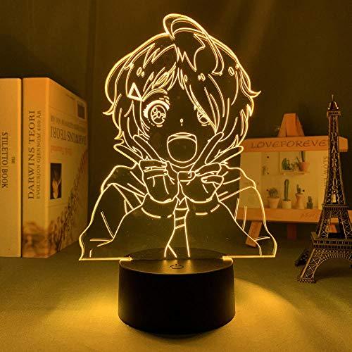Lámpara de noche 3D Anime ilusión lámpara Anime Wonder Huevos Prioridad AI OHTO LED Luz nocturna para decoración del hogar Niños Regalo de Navidad Lámpara 3D Wonder Huevos Prioridad MAOJIE