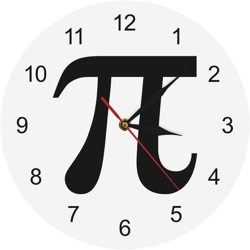 HUIHUI Wall Clock 3D Pi Silhouette Geek 3.14 Cloc NEW before selling Symbol Trust