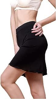 Women Pure Silk Smooth Soft Lace Underwear Skirt Home Sleepwear Half-Slip Nightwear