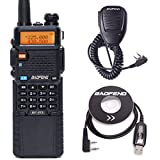 BaoFeng BF-R3 Tri-Band with 2 Antennas 3800mAh Battery Amatuer Portable UV-5R Transmitter Two Way Radio with USB Programming Cable and Speaker