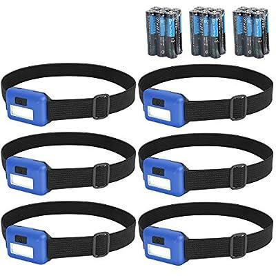 Amazon - 75% Off on 6 Packs Headlamp Flashlight 300 Lumens Super Bright Cree Led